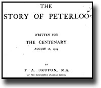 The Story of Peterloo by F.A. Bruton - transcription link